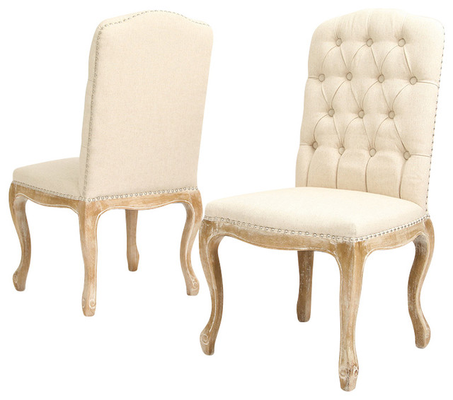 Jolie French Design Weathered Wood Dining Chairs Set of 2  : traditional dining chairs from houzz.com size 640 x 566 jpeg 59kB