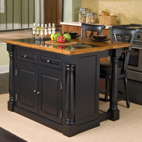 Monarch Slide Out Leg Kitchen Island With Granite Top Contemporary Kitchen Islands And