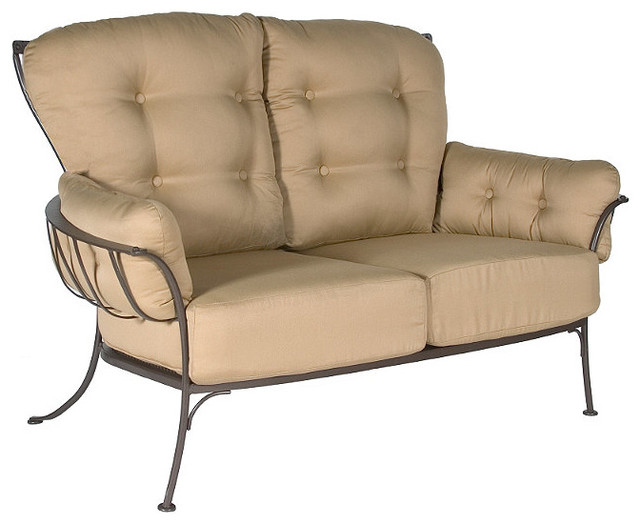 Monterra Outdoor Loveseat With Cushion Patio Furniture Traditional Patio