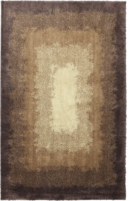 "Shaggy Vibes Central Park Brown Shag Shaded 2' x 7'10"" Runner American Rug contemporary-rugs"