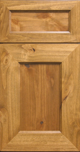 Knotty Alder Shaker-Style Mitered Cabinet Door & Drawer - Rustic - Kitchen Cabinetry - other ...