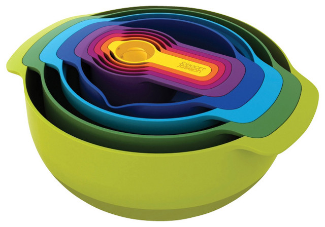 Nest Plus, Multi Colored, 9 Pc. modern-measuring-cups-and-spoons
