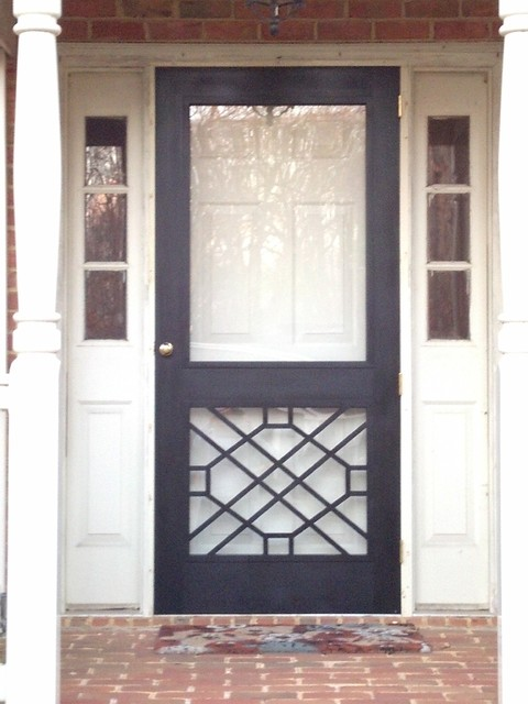 Legacy chippendale storm sceen doors traditional for Entry door with screen