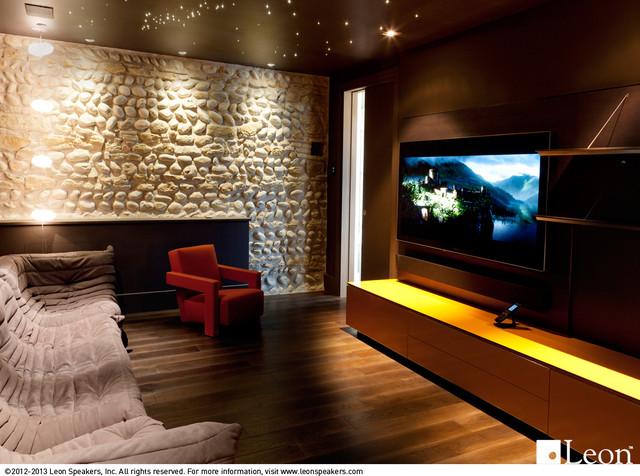 Horizon Series Soundbar contemporary-basement