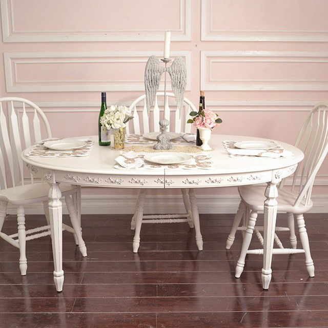 Shabby Chic Kitchen Table: Shabby Elegant Oval Dining Table