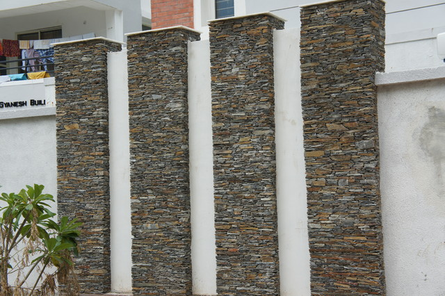 Wall cladding tiles of quartzite and slate stone asian for Exterior wall tiles design india