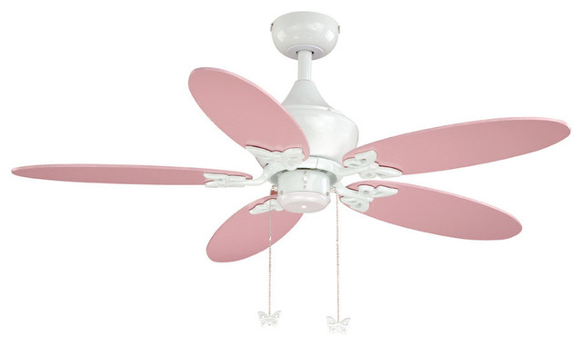 "Angela White 44"" Ceiling Fan traditional-ceiling-fans"