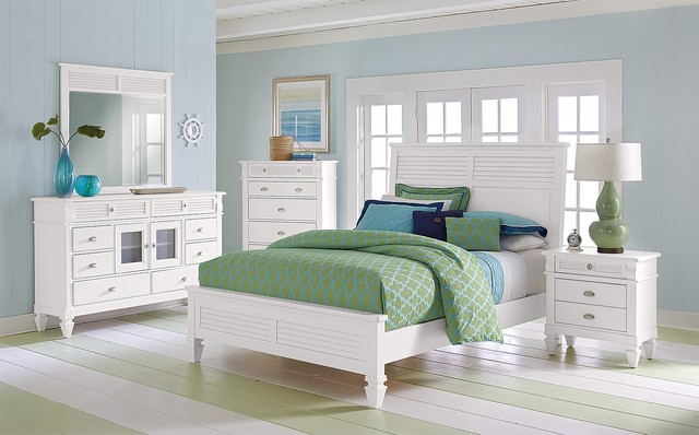 The Peony II White Bedroom Collection beach-style-bedroom-products