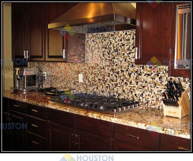 Kitchen Tile Work: By HOUSTON TILE WORKS LLC