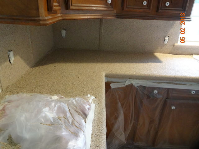 Kitchen countertops, before and after - houston - by Painting Services ...