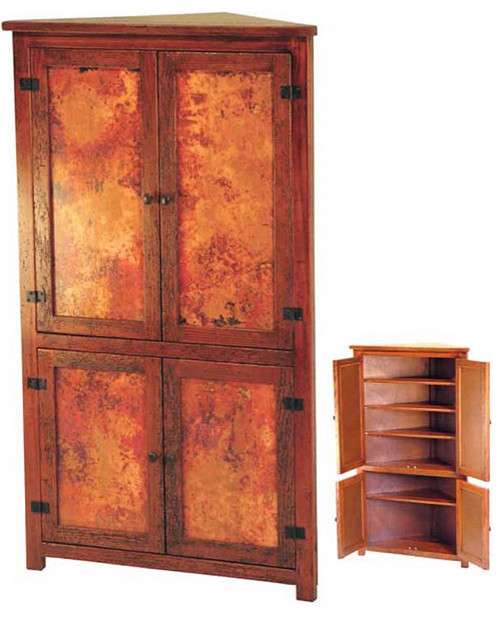 Copper Furniture - Corner Cabinet - Traditional - Dining ...