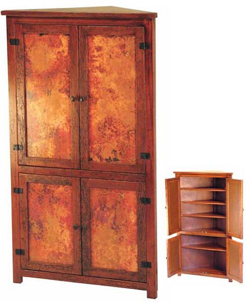 Copper Furniture - Corner Cabinet - Traditional - Dining ...