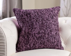 Edie Inc. Luxe Knitted Ribbon Decorative Pillow - Purple modern-pillows