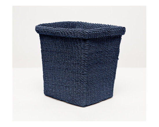Chelston Wastebasket - Talk about elevated coziness. The delicately woven abaca of our softly structured Chelston collection brings a welcome warmth to any bath. Choose from four versatile colors.