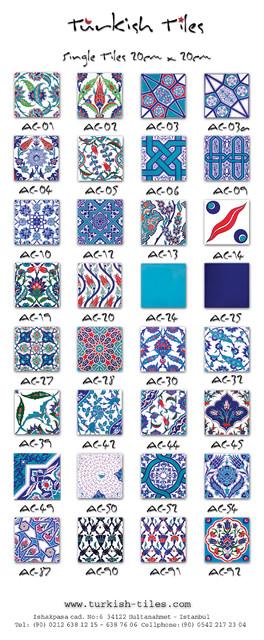 turkish tiles 20 cm x 20 cm cataloge traditional-tile