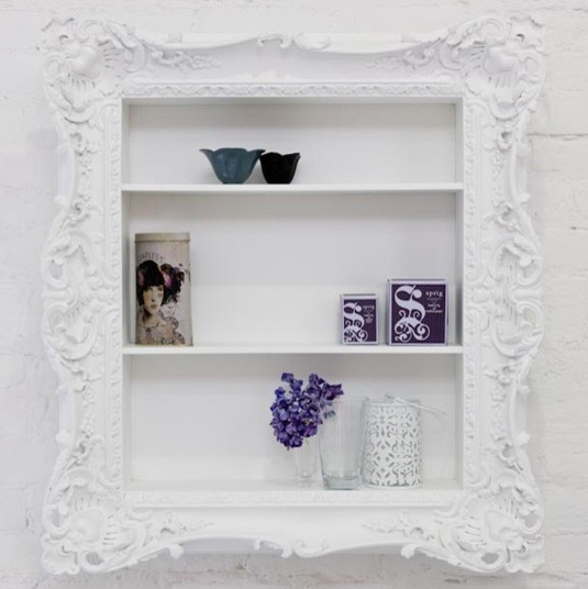Ruffle Frame Shelf modern wall shelves