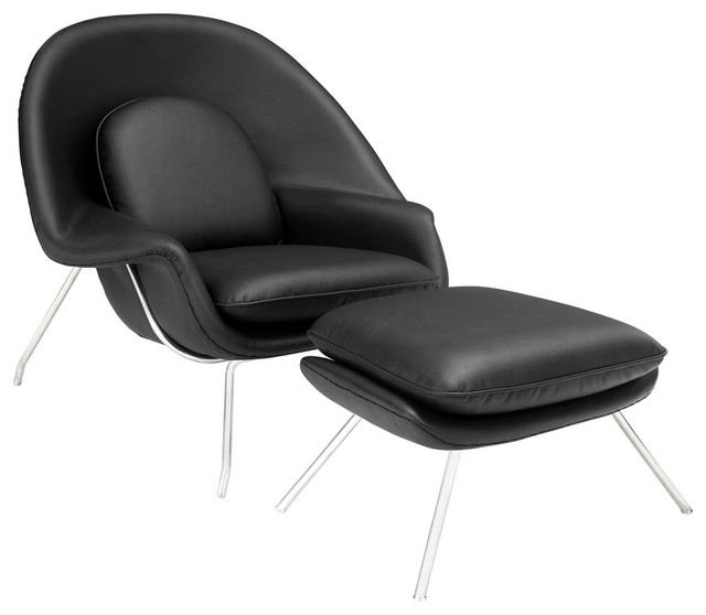 W Lounge Chair in Black contemporary-living-room-chairs