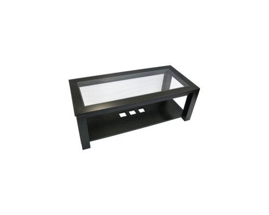 Creative Home Furnishings - Boxwood Furniture - Boxwood Glass Top Coffee Table