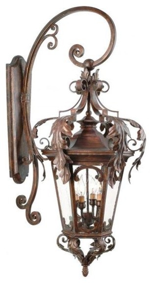 Corbett Lighting 34-23 Four Light Bronze Wall Lantern traditional-outdoor-wall-lights-and-sconces