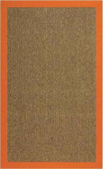 Cove Area Rug, Orange/Dark Natural contemporary-rugs