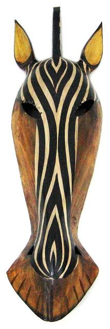 African Zebra Jungle Mask Africa Decor Wall Hanging Large