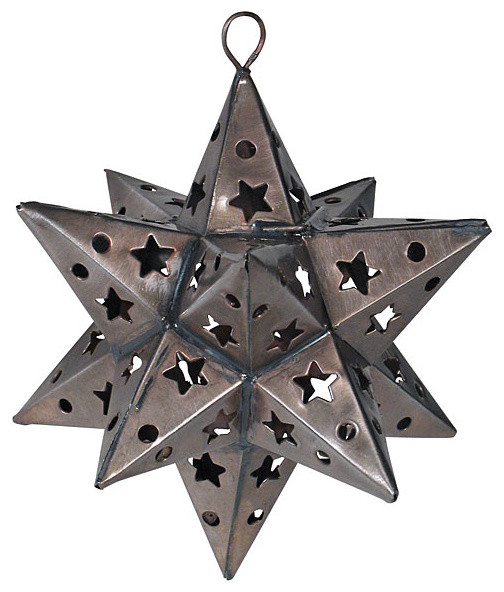 Aged Punched Tin Star Ornaments-pair of 2 - Eclectic ...