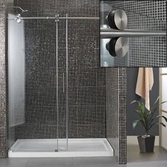 Costco - Madison Shower 10 mm Tempered Glass Reversible Door Tub Replacement