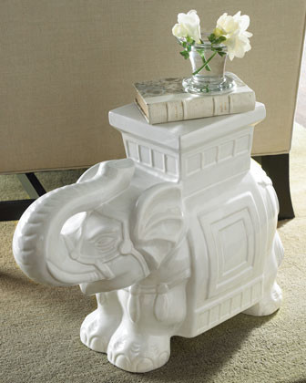 White Elephant Garden Seat contemporary-outdoor-stools-and-benches
