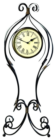 Dessau Home Iron Scroll Floor Clock - W384 - Transitional - Floor And Grandfather Clocks - by ...