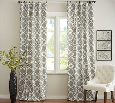 "Kendra Trellis Pole Pocket, 50 x 96"", Brownstone traditional-curtains"