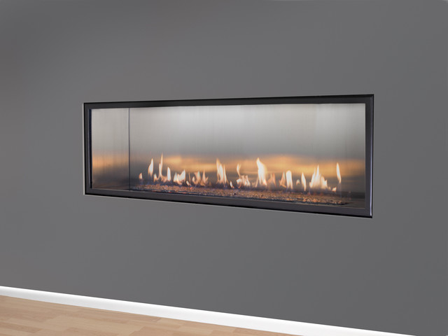 Halcyon Linear Direct Vent Fireplace Modern Indoor Fireplaces Other Metro By European Home