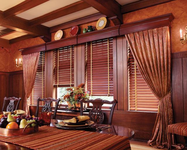 Hunter Douglas Parkland™ Wood Blinds traditional-window-blinds
