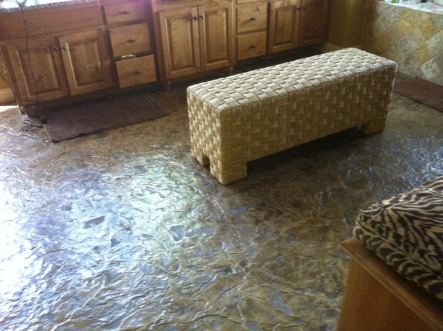 Concrete indoor flooring contemporary laundry room for How to clean concrete floors indoors