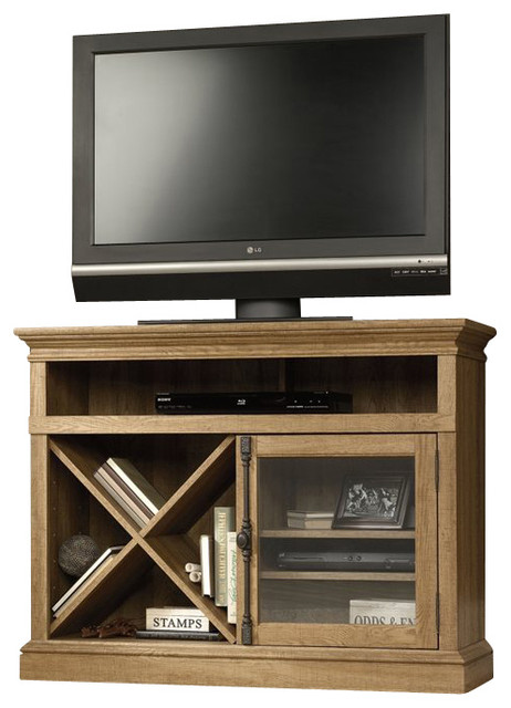 Sauder Barrister Lane Corner TV Stand in Scribed Oak - Transitional - Entertainment Centers And ...