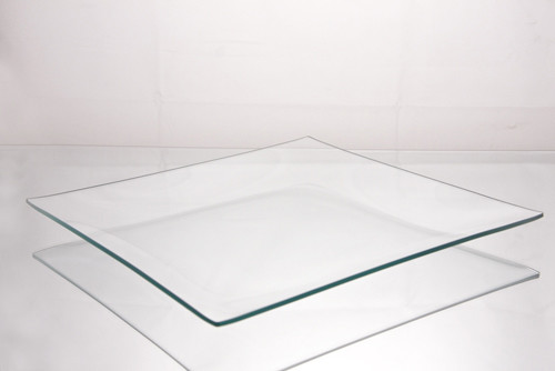 Clear Glass Plate Square Contemporary Dinner Plates