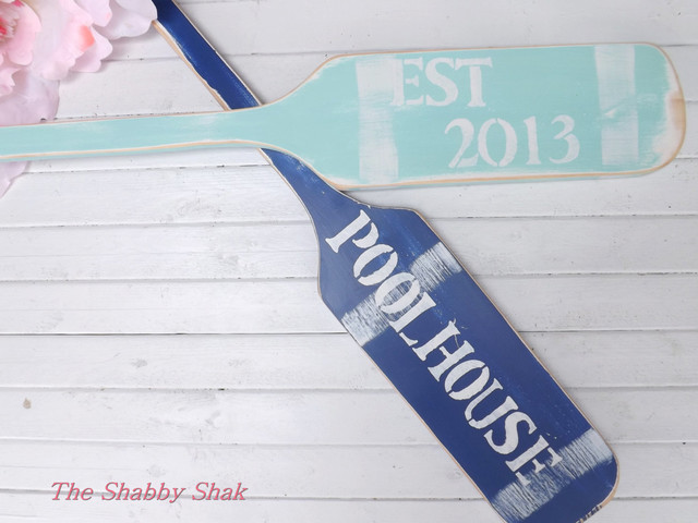 Beach Style Outdoor Decor. Nautical Paddle House Numbers By The Shabby Shak    Beach Style .