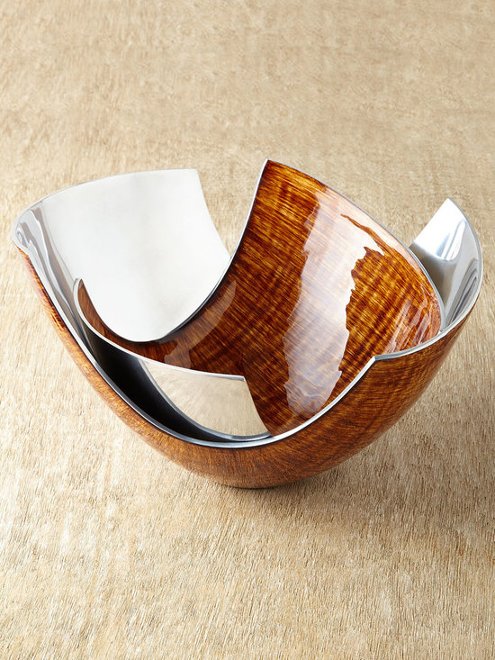 """John-Richard Collection - Shelton Bowls - BROWN - John-Richard CollectionShelton BowlsDetailsSet of two U-shaped bowls.Made of polished aluminum. Hand-painted brushed caramel enamel finish.For decorative use only.Small 12.5""""W x 10.5""""D x 7.5""""T; large 14""""W x 12.5""""D x 9.75""""T.Imported.Designer About the John-Richard CollectionFounded in 1980 in Greenwood Mississippi the John-Richard Collection is known for a strong design staff that travels the world for inspiration. Channeling cultural and historical influences the company creates distinctive artisan-crafted furniture lighting wall art mirrors and decorative accessories that make a lasting impression. What's more an eye for future trends in luxury home furnishing sets the John-Richard Collection apart. They skillfully blend the best of what is new in home fashion with the great designs of the past resulting in updated designs that fit perfectly with an array of styles."""