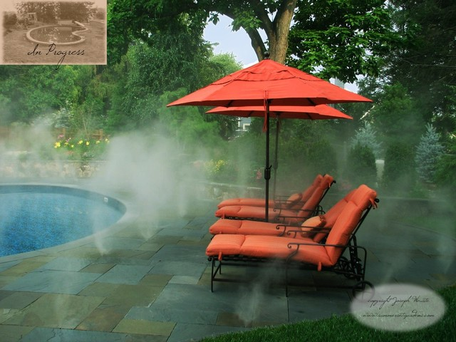 Pool Patio & Fog Mist System traditional-pool