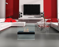 Madison Floor Standing Bio Ethanol Fireplace - Anywhere Fireplace contemporary-indoor-fireplaces