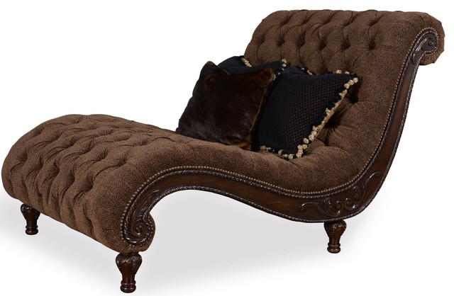 Art furniture accents cheetah chaise traditional for Chaise lounge indoor chair