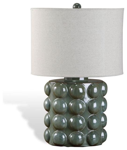 Sansa Bubble Lamp, Sage contemporary-table-lamps