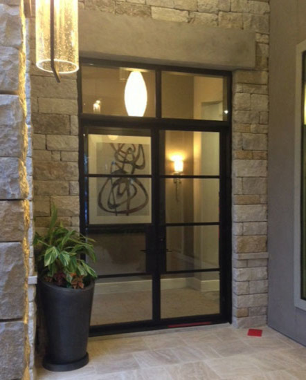Modern Iron Door With Square Transom Modern Front