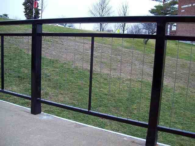 Commercial cable railing modern home fencing and gates