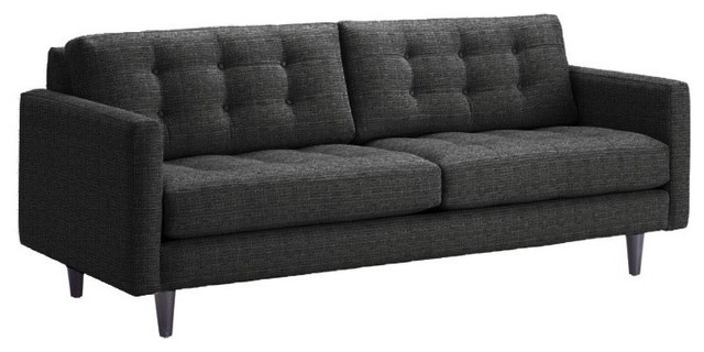 Beverly Sofa, Charcoal, 87x38x34 modern-sofas