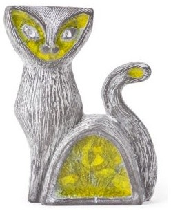 Glass Menagerie Cat Vase - Clayton Gray Home artwork