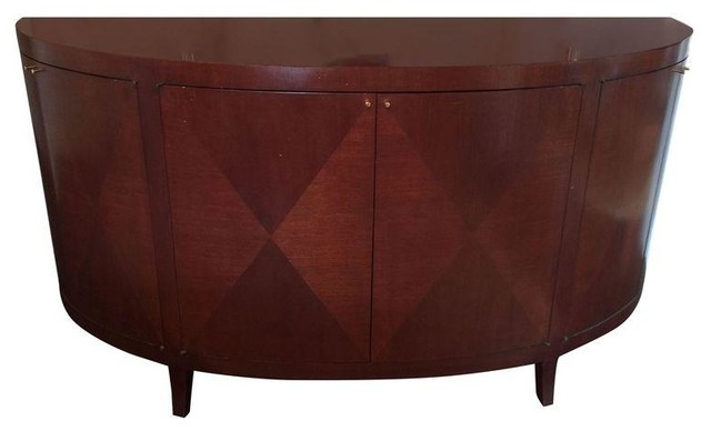 Pre owned solid cherry wood buffet cabinet sideboard