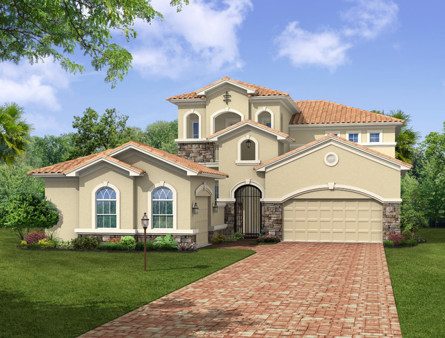 Luxury home for fairway lakes located in viera fl for Mediterranean elevation
