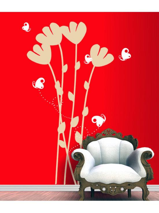Flowers & Butterflies - Original design © 2012 Wall Definition.