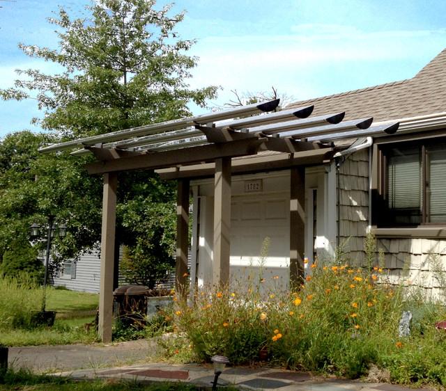 Solar carport and trellis transitional pergolas arbors for Trellis carport