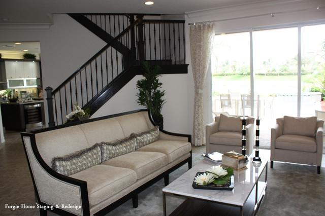 home staging and interior redesign contemporary living